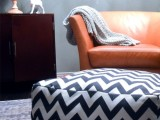 chevron pouf and dog bed in one