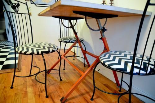 chevron chairs (via starsforstreetlights)