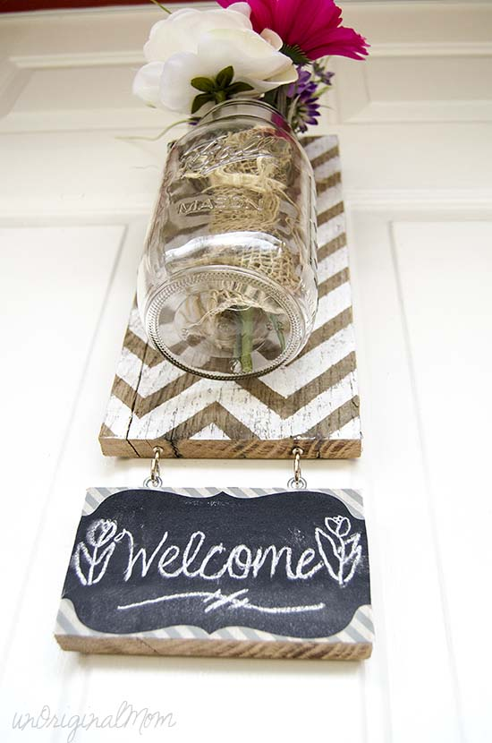 hanging chevron vase