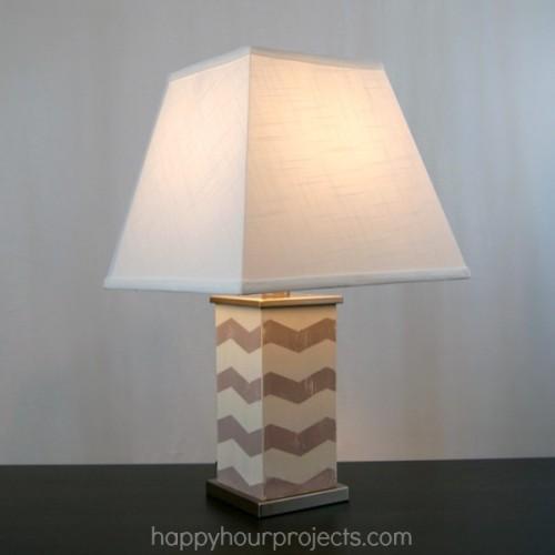 chevron lamp (via happyhourprojects)