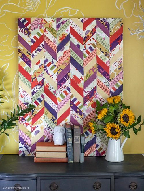chevron fabric art (via liagriffith)