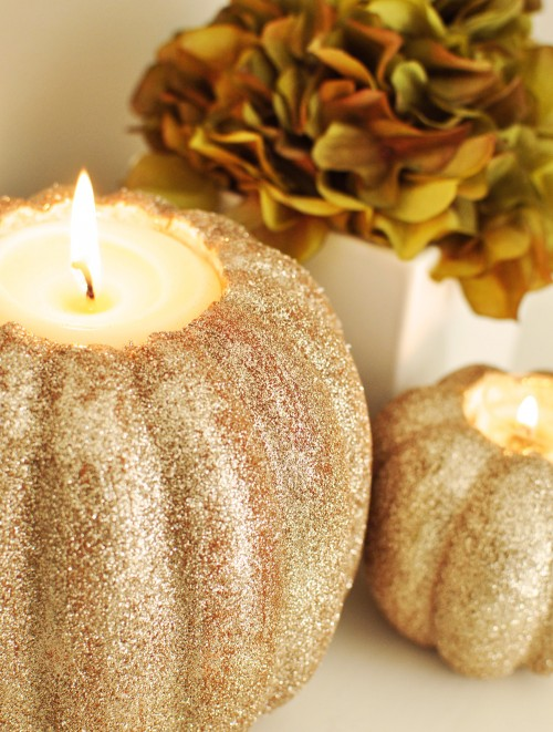 Diy Chic Pumpkin Candle Holders