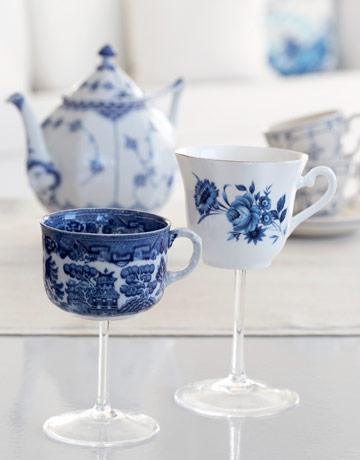 DIY China Teacup Wineglasses