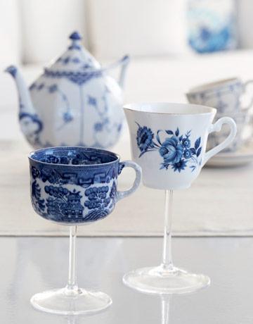 Diy China Teacup Wineglasses