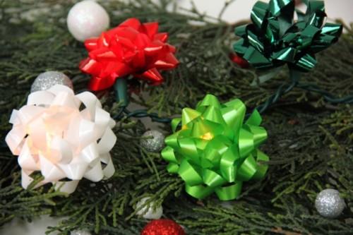 Diy Christmas Bow Lights