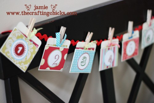 Diy Christmas Countdown Garland