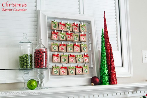 red and green Christmas countdown (via craftaholicsanonymous)