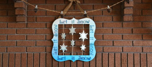 ombre Let It Snow wreath (via craftcuts)