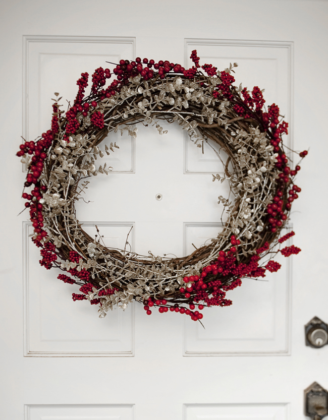 branches and berries holiday wreath