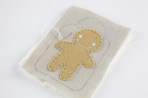 DIY Christmas Gingerbread Man Gift Tag