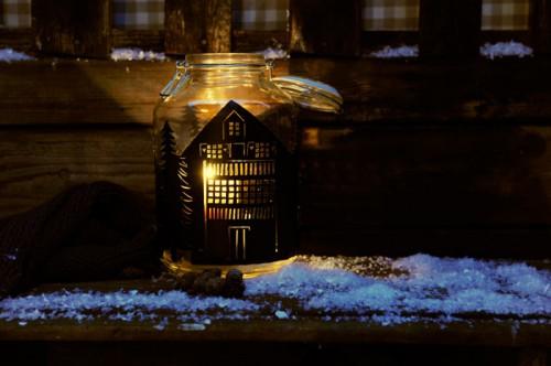 house silhouette lantern