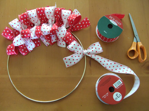 Christmas Ribbon Wreaths.Easy To Make Christmas Ribbon Wreath Shelterness