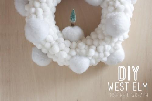 Diy Christmas Snowballs Wreath