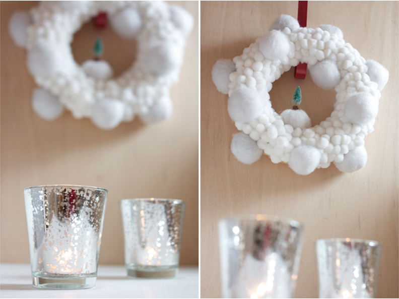 Diy Christmas Snowballs Wreath