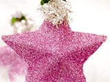 DIY Christmas Star Glitter Ornaments