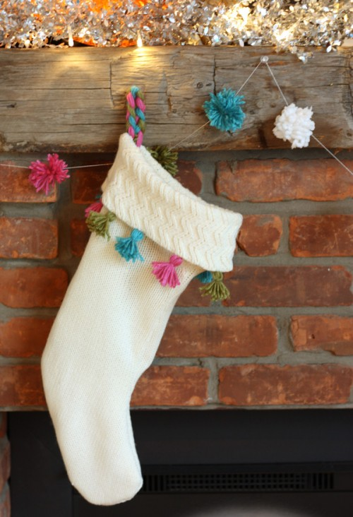 Diy Christmas Stocking Of A An Old Sweater