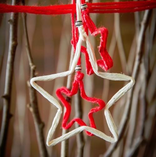 DIY Christmas String Star Ornaments