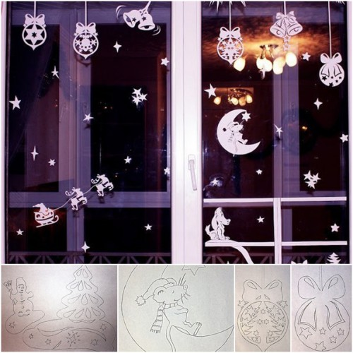 cool paper decorations with a template (via fabartdiy)