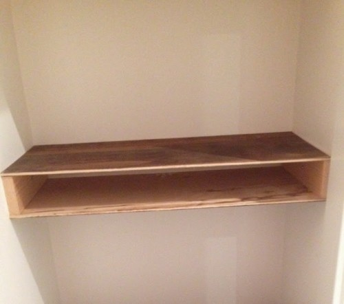 DIY Chunky Stained Wooden Shelves