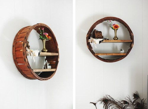 Diy Circle Shelf With A Rustic Touch