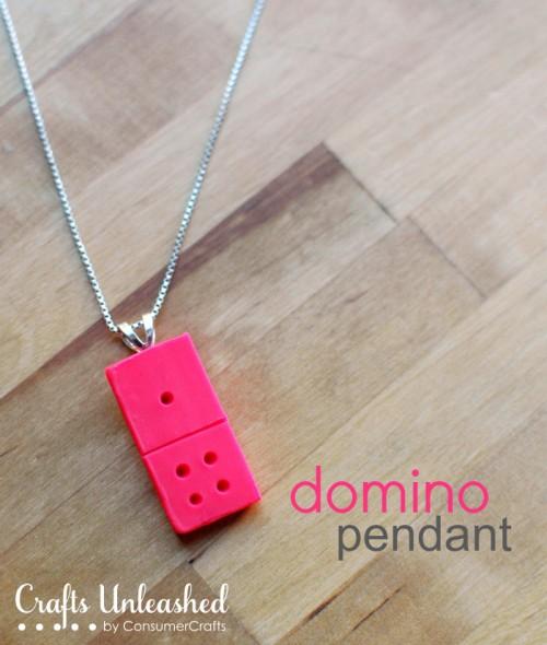 Diy Clay Domino Pendant