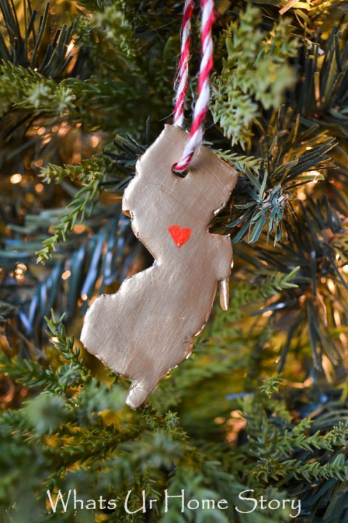 DIY Clay State Christmas Ornaments
