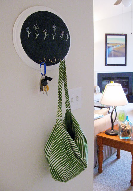 chalkboard coat rack (via shelterness)