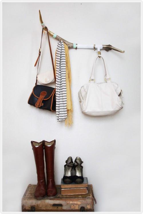 antler coat rack (via camillestyles)