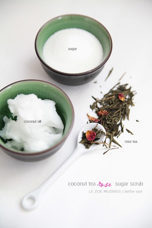 Diy Coconut Rose Tea Sugar Scrub