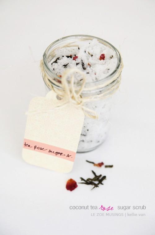 Diy Coconut Tea Rose Sugar Scrub Shelterness