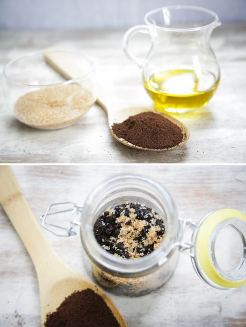 how to make coffee body scrub for cellulite