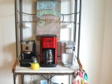 vintage-inspired coffee station