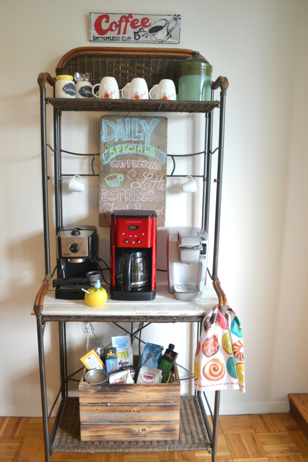 vintage inspired coffee station