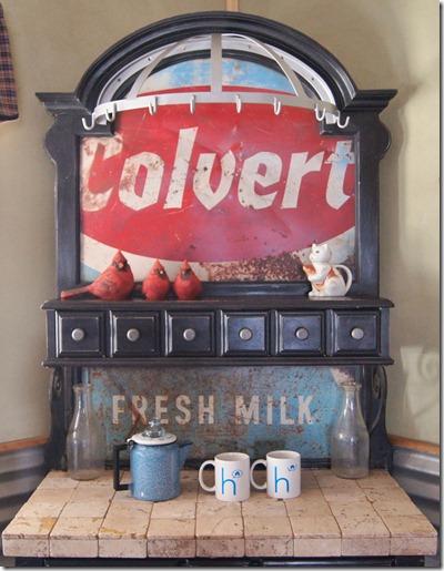 baker rack into a coffee station (via repurposed-life)