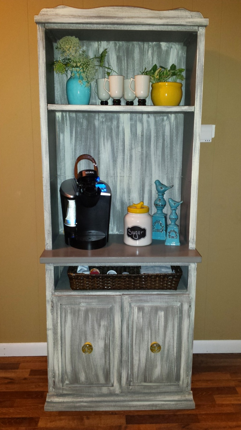 shabby chic coffee station via thewhirlingcompass unique diy coffee station