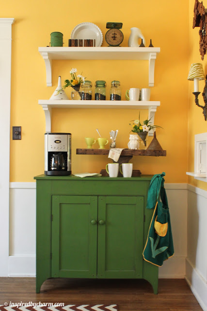 coffee station shelves