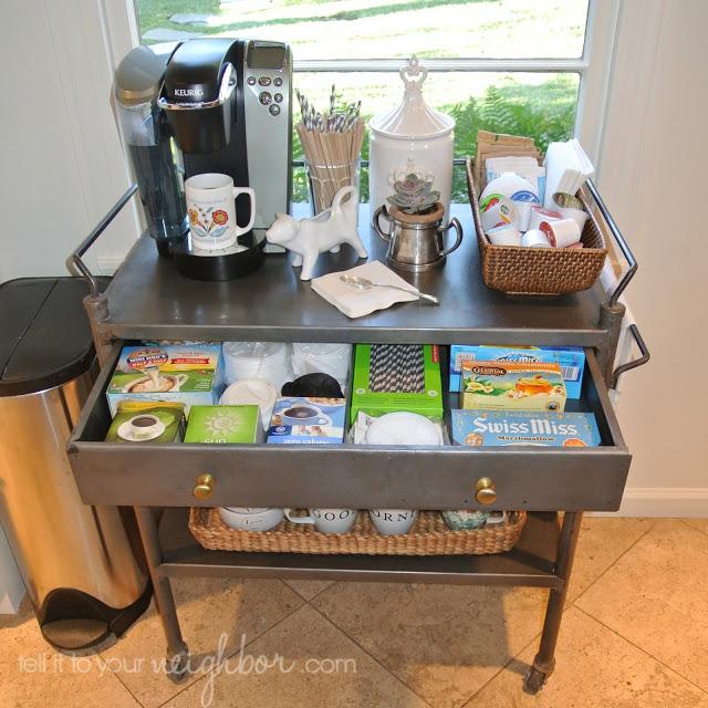 coffee cart organizing
