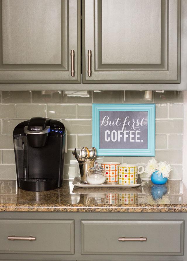 organizing a simple coffee bar