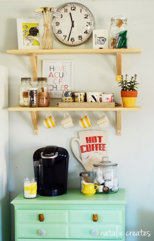 colorful coffee station (via natalienoack)