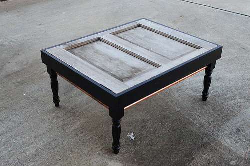 Picture Of Diy Coffee Table Of Old Exterior Door