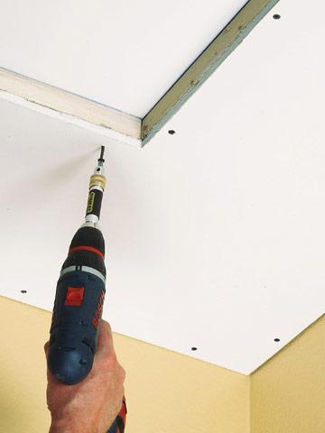 easy coffered ceiling (via diyadvice)