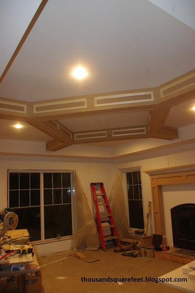 decorative coffered ceiling (via thousandsquarefeet)