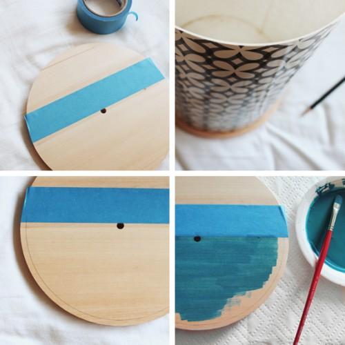 Diy Color Block Clock Of Wood