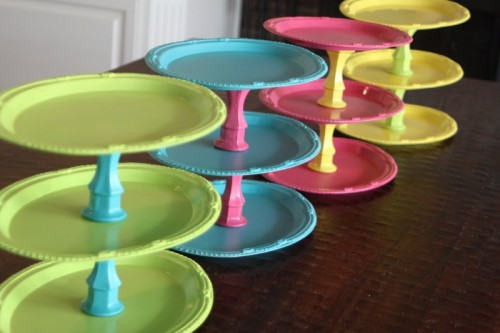 Colorful DIY Cake Stands