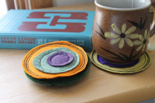Diy Colorful Felt Coasters As A Mothers Day Gift