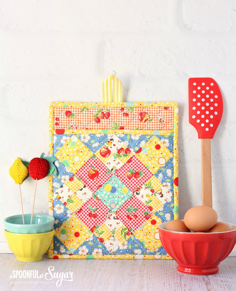 Picture Of diy colorful potholder with various patterns  2