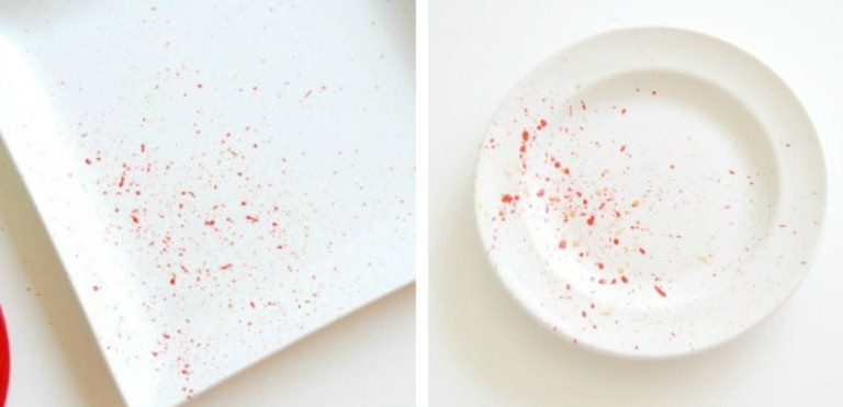 Diy Colorful Splattered Plates For Parties