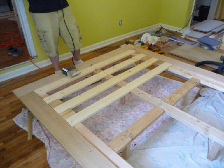 Comfortable DIY Platform Bed With Hairpin Legs | Shelterness