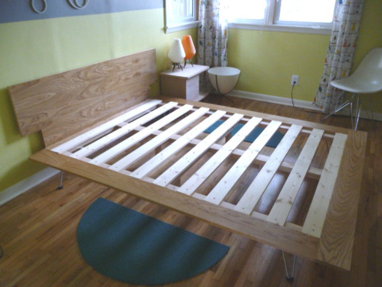 diy king size platform bed frame plans