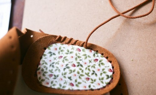 Diy Comfy Moccasins With Fabric Decoration